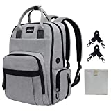 Puersit Diaper Bags Backpack Large Baby Nappy Changing Bag with Multifunctional Insulated Pockets and Changing Pad, Safety and Stylish Travel Backpack for Mummy Daddy Baby Care