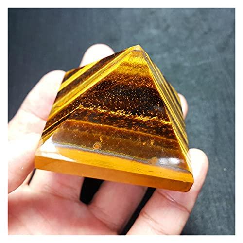 TYUTYU 1 unids Natural Tigre Eyes Crystal Pyramid Pirámide Pulida Pirámide Reiki Minerales Cristales de Cuarzo Piedra (Size : 3.8-4cm)