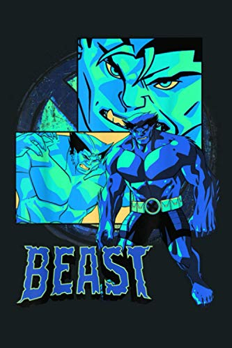 Marvel X Men Beast Collage Panel Logo: Notebook Planner -6x9 inch Daily Planner Journal, To Do List Notebook, Daily Organizer, 114 Pages