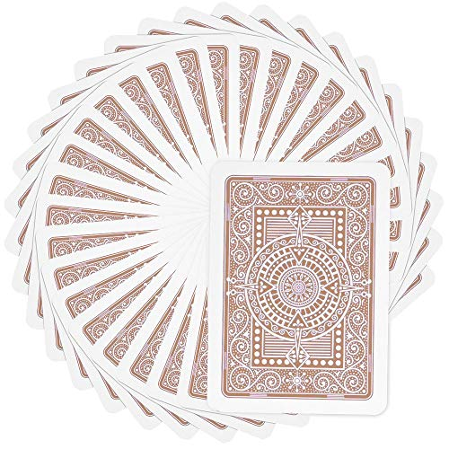 Modiano Premium Quality Poker Playing Cards Texas Poker (Brown)