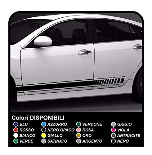 Strisce Adesive Auto Adesivi Laterali Fasce Adesivi Strisce auto tuning sport (ALTRO COLORE (COMUNICALO))