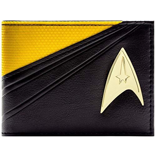 Star Trek Starfleet Befehlssatz Schwarz Portemonnaie Geldbörse