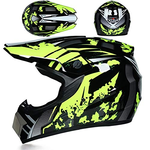 Motorbike Off Road Crash Helmet ABS Engineering Plastics Sturdy, Wear-Resistant and Comprehensive Head Protection Suitable for Adult Men and Women 342524cm 1 Item (Color : U, Size : S)