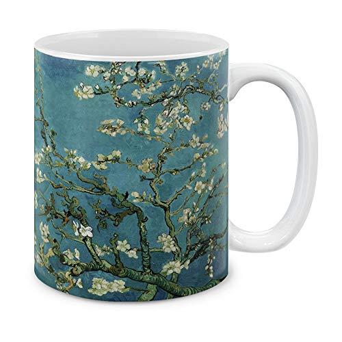 MUGBREW Classic Art Almond Blossom Van Gogh Ceramic Coffee Mug Tea Cup, 11 OZ
