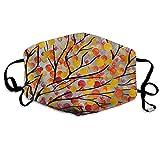 PecoStar - Máscara facial para la boca, diseño de árboles otoñales, unisex, ajustable, transpirable, para ciclismo, camping, viajes