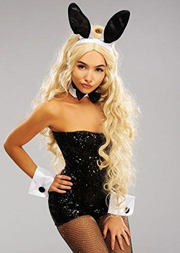 Weiße Satin Bunnygirl Set Deluxe