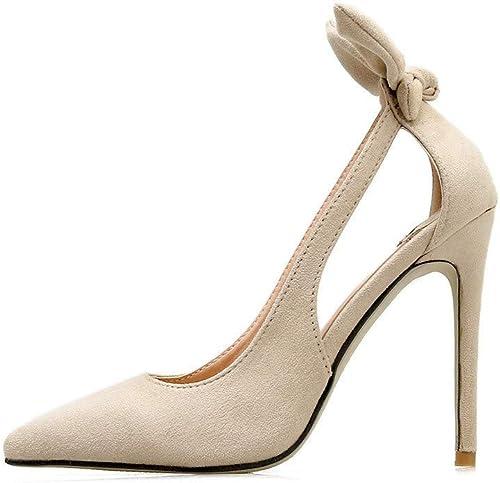 Escarpins Talons Hauts Sauvage Sexy Discothèque Discothèque en Daim Fashion Stiletto Daim Stiletto Bouche Peu Profonde  acheter 100% de qualité authentique