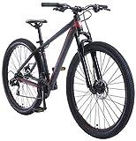 BIKESTAR Bicicleta de montaña Hardtail de Aluminio, 21 Marchas Shimano 29' Pulgadas | Mountainbike con Frenos de Disco Cuadro 17' MTB | Negro Rojo