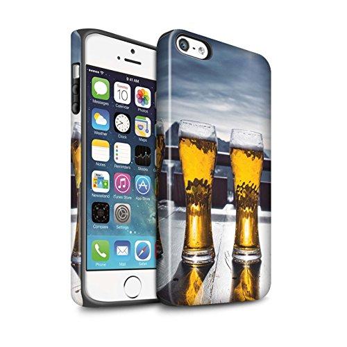 Stuff4 Matte Antiurto Custodia/Cover/Caso/Cassa del Telefono per Apple iPhone 5/5S / Apres/Capanna di Sci/Birra/Sciare/Snowboard Disegno