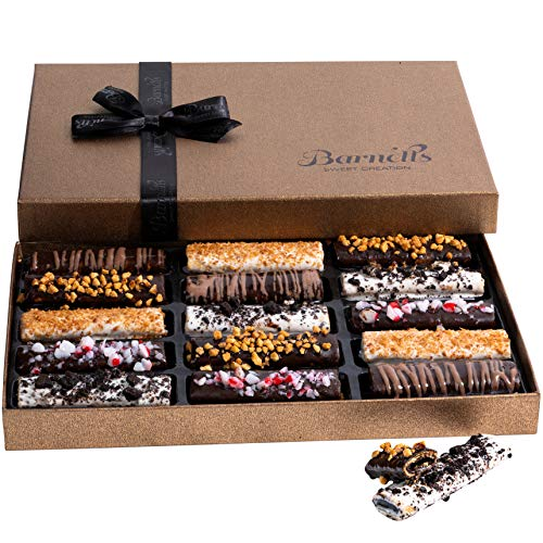 Barnett's Cookies Gourmet Chocolate Covered Hazelnut Wafers | 2020 Food Gift Birthday Baskets |...