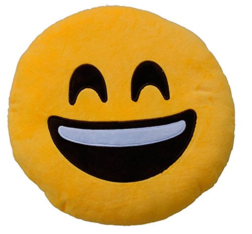 Emoticonworld Contento – Kissen Smiley, 25 cm