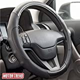 Motor Trend GripDrive Carbon Fiber Steering Wheel Cover – Universal Fit with Microfiber ...