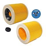 HQRP 2-pack Cartridge Filter for Karcher SE 4000 series SE 4001 / SE 4001 Plus/SE 4002 / SE4001 / SE4002 / SE4001+ Carpet Cleaner, 64145520 Replacement + HQRP Coaster