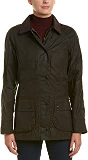 Barbour Womens Beadnell Wax Jacket, 12 Olive