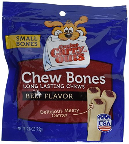 Canine Carry Outs Chew Bones Beef Flavor Dog Snacks, 2.8 oz