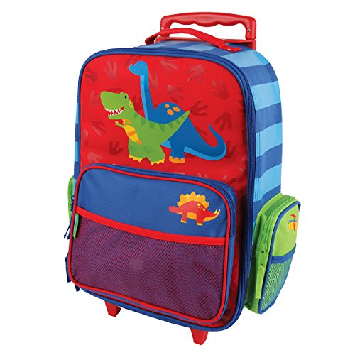 Stephen Joseph Classic Rolling Luggage, Red Dino