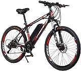 Bicicletas Eléctricas, 26 'Bicicleta eléctrica, bicicleta eléctrica de la ciudad de alta velocidad de 250W con, 36V batería de litio extraíble, 21 velocidades que absorben la bicicleta de montaña, tod