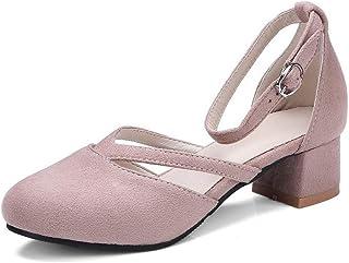 BalaMasa Womens ASL06518 Pu Block Heels