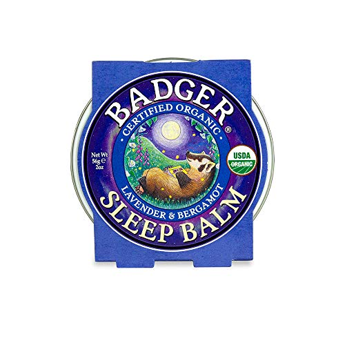 Badger - Sleep Balm, Lavender & Bergamot, Natural Sleep Balm, Scented Relaxing Balm for Children and Adults, Calming Night Balm, Organic Sleep Balm, 2 oz