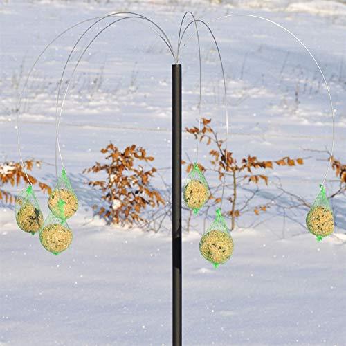 VOSS.garden Dänischer Meisenknödelhalter Pælme, hochwertig und wetterbeständig, Futterstation Vogelfutterstation Meisenknödeln