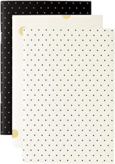 Kate Spade New York Triple Notebook Set with 80 Lined Pages Per Book, Black Dot