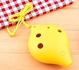 TNG Ocarina de plástico alto C de 6 agujeros, color amarillo, apto para niños y enseñanza de profesores