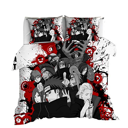 Manga Naruto Duvet Cover Bedding Set Twin Full Queen King Size Soft Microfiber ( 1 Duvet Cover & 2...
