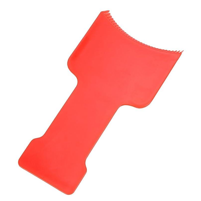 男促す重要な役割を果たす、中心的な手段となるAMAA フラットトップパドルセットヘアハイライトセクショニング櫛セットヘアカラーパドルセット (レッド)