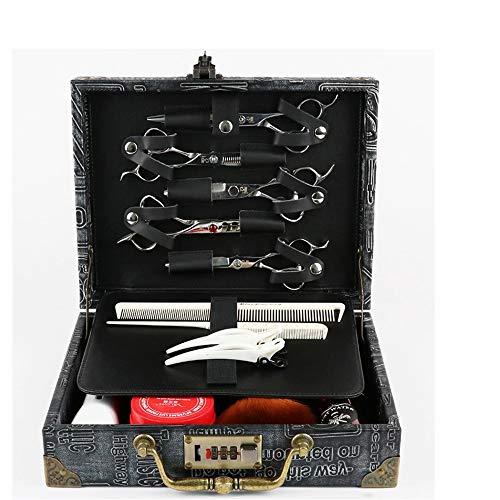 Maleta para Maquillaje, Caja de Herramientas Clipper Kit estilista del cabello Peluquería Código de bloqueo Maleta tijeras de peluquería de almacenamiento de pelo para la manicura del salón de pelo de