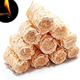 Wood Wool Fire Starters for Campfires 10 pcs - Premium Quality - fatwood fire Starter Sticks logs for Fireplace - firestarters for Indoor Fireplace - Tumbleweeds - Grill Camping Cubes