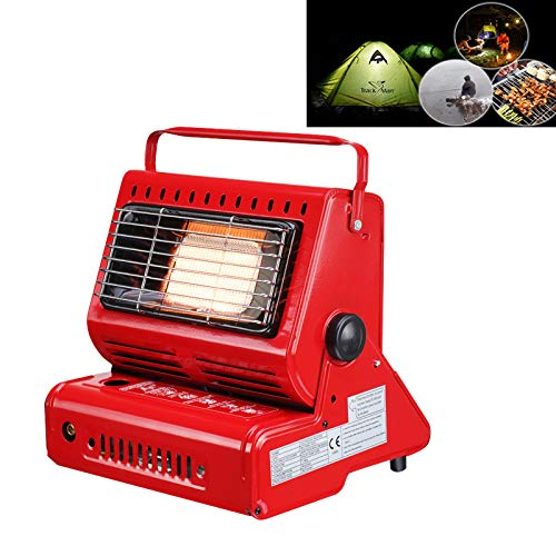 Qiuge Outdoor Heater For Tent,Multifunctional Portable Outdoor Camping Trip Gas Heater Gas Stove Burner, Powered By Single Gas Tank (Not Included)