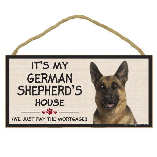 Imagine This Wood Breed Decorative Mortgage Sign, German Shepherd by Imagine This Company