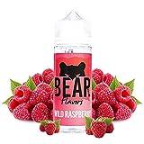 BEAR Flavors - Wild Raspberry   100ML   Sin Nicotina: 0mg   70VG/30PG   E-Liquido para Cigarrillos Electronicos   Vaper   E Cigarette   E Shisha