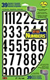 Hy-Ko Products MM-7N Self Adhesive Vinyl Numbers 2' High, Black & White, 39 Pieces