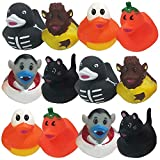 ArtCreativity 2.5 Inch Assorted Halloween Rubber Duckies for Kids, Pack of 12, Variety of Halloween Characters, Trick or Treat Supplies, Goodie Bag Fillers, Party Favors, Halloween Themed Bathtub Toys