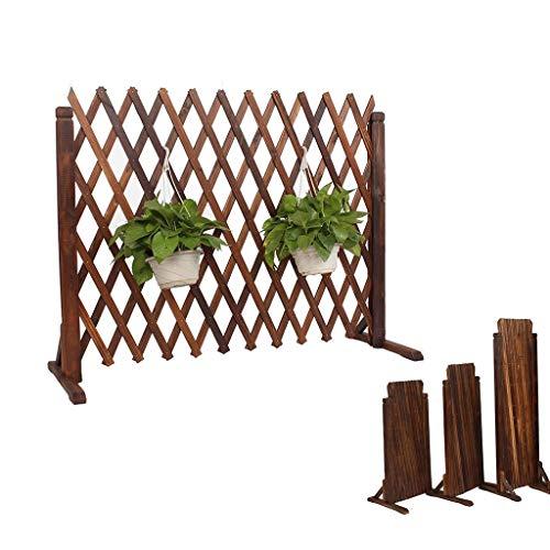 JHZWHJ Wood Fence Outdoor Garden Grid Decoration Fence Telescopic Guardrail Fence Pet Fence (Size : H80cm)