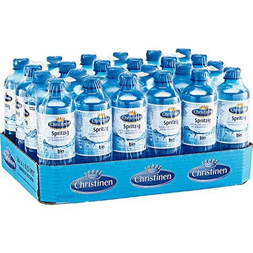 24 Flaschen a 500ml Christinen Spritzig Mineralwasser mit Kohelnsäure inc. 6.00€ EINWEG Pfand PET Flaschen