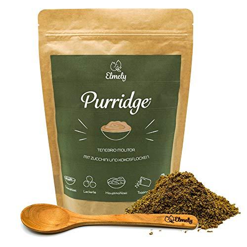 Elmely Purridge Insekt mit Zucchini & Kokos | Ergibt bis zu 21 Tagesrationen | getreidefreie Rezeptur mit Insektenprotein | Alleinfuttermittel für Katzen