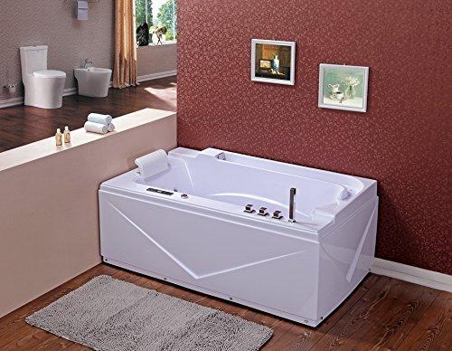 Whirlpool baño–suprema 679/1700x 900x 590mm/ozono desinfección/Touch Panel de control con FM Radio/CD/MP3/19chorros para el cuerpo/ozono desinfección/24Meses Garantía/luz LED/de entrega rápida