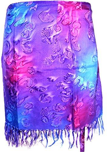 Highwaypay Paisley Gym Wrap Indian Teen Yoga & Meditation Gypsy Polyester Tie Dye Wrap Skirt Short Mini for Summer 2946