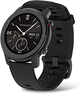 Amazfit GTR Smartwatch, All-Day Heart Rate Monitor, Daily Activity Tracking, 10-Day Battery Life, 12- Sport Modes, 42mm , Starry Black
