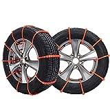 PINGC 30 Uds Cadenas De Nieve Para Neumáticos De Coche, Cadenas Universales Para Neumáticos De Nieve, Portátiles, Fáciles De Montar, Coche De Tracción De Emergencia