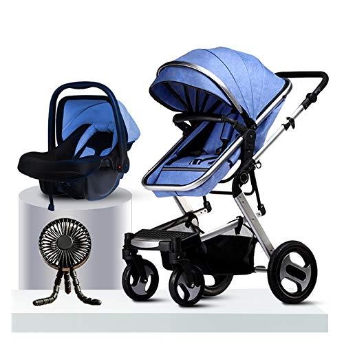 JIAX Ventiladores De Carrito para Bebé, Sistema De Viaje Combinado De Asiento De Coche para Cochecito, Incluye Cochecito Ligero Y Asiento De Coche para Bebé Snug Ride, Cochecitos Plegables Compactos