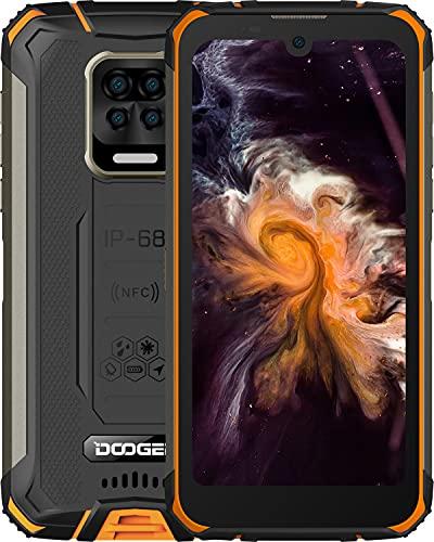 DOOGEE S59 Moviles, [2021] 10050mAh 4GB RAM+64GB ROM, IP68 IP69K Movil Resistente, Potente Altavoz 2 W, Cámara Cuádruple 16MP+Cámara Frontal 16MP Smartphone Android 10 4G, 5.71