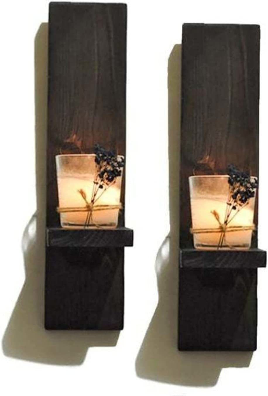 ZXCVBNM Max 49% OFF Candle Fixed price for sale Wall Sconces Rustic Wooden Holder Handmade