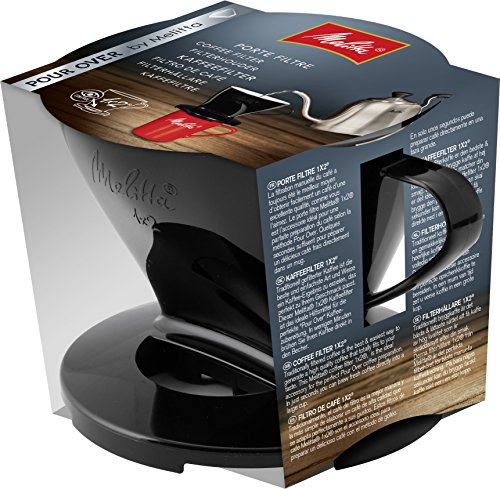 Melitta Kaffeehalter für Filtertüten, Kaffeefilter 1x2 Standard, Kunststoff, Schwarz, 217557