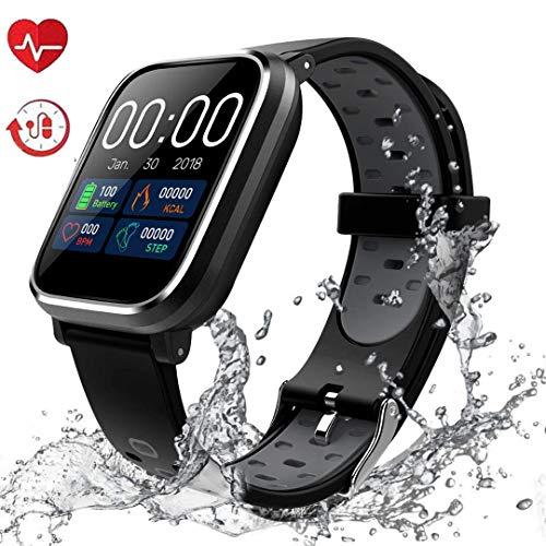 Fitness Tracker, Activity Tracker con schermo a colori da 1,3'Smart Watch impermeabile IP67 con cardiofrequenzimetro Sleep Monitor Contapassi per donne Uomini Bambini-HS11