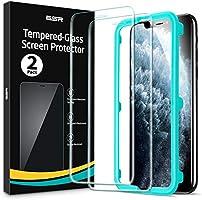 ESR 2 Pack Protector Pantalla Compatible con iPhone 11 Pro MAX, Cristal Templado iPhone XS MAX, Marco Instalación...