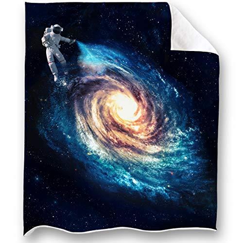 LOONG DESIGN Galaxy Throw Blanket Super Soft, Fluffy, Premium Sherpa Fleece...