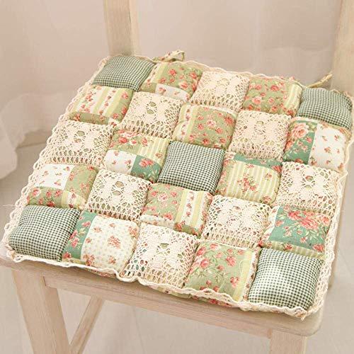 DSDD Cuscini per sedie Cuscini per sedili Set di 4 Ganci in Tessuto Fiori Tessuto da Giardino...